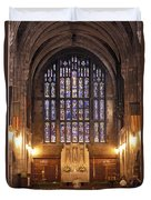 Cadet Chapel With Stained Glass Windows Duvet Cover