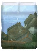 Cadgwith Rooftops Duvet Cover by Steve Mitchell