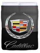 Cadillac - 3 D Badge On Black Duvet Cover