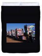 Cadillac Ranch On Route 66 Duvet Cover
