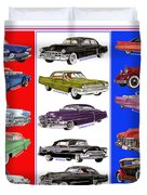 15 Cadillacs The Poster Duvet Cover