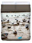Cadiz Spain Low Tide Duvet Cover
