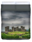 Caerphilly Castle East View 3 Duvet Cover