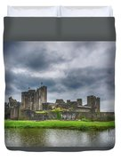Caerphilly Castle North View 3 Duvet Cover