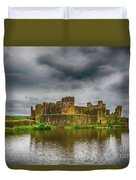 Caerphilly Castle South East View 1 Duvet Cover