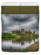 Caerphilly Castle South East View 2 Duvet Cover
