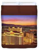 Caesars Palace After Sunset 6 To 3.5 Aspect Ratio Duvet Cover