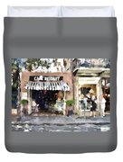 Cafe Beignet Summer Day Duvet Cover