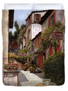 Cafe Bifo Duvet Cover by Guido Borelli