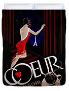 Cafe Coeur 1 Duvet Cover