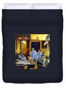 Cafe Des Artistes Duvet Cover