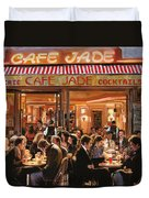 Cafe Jade Duvet Cover by Guido Borelli