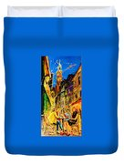 Cafe Of Amsterdam At Night  Duvet Cover