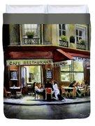 Cafe Regulars Duvet Cover