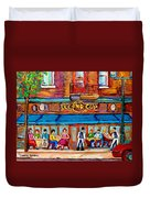 Cafe Second Cup Terrace Duvet Cover