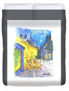 Cafe Terrace At Night - Van Gogh Duvet Cover