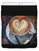 Caffe Vero's Heart Duvet Cover