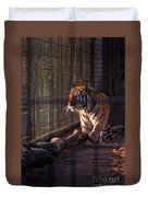 Caged King Of The Jungle Duvet Cover