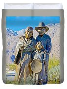 Cahuilla Band Of Agua Caliente Indians Sculpture On Tahquitz Canyon Way In Palm Springs-california Duvet Cover
