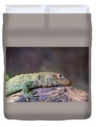 Caiman Lizard Duvet Cover