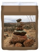 Cairn On The Mountain Duvet Cover