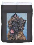 Cairn Terrier Brindle Duvet Cover by Lee Ann Shepard