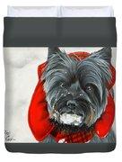 Cairn Terrier In The Snow Duvet Cover