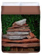 Cairns Rock Trail Marker Bluff Utah 01 Duvet Cover