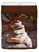 Cairns Rock Trail Marker Colorado Plateau Kanab Utah 01 Duvet Cover