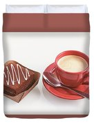 Cake And Cup Of Coffee Duvet Cover