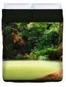 Caldeira Velha Thermal Pool Duvet Cover