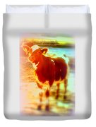 This Calf Has A Hope For A Long And Happy Life But How And When Will It End   Duvet Cover