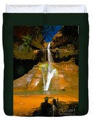 Calf Creek Falls Utah Duvet Cover