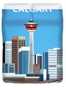 Calgary Alberta Canada Vertical Skyline Duvet Cover