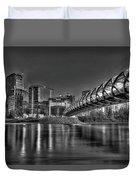 Calgary Peace Bridge Duvet Cover