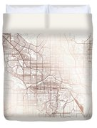 Calgary Street Map Colorful Copper Modern Minimalist Duvet Cover
