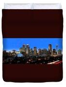 Calgarys Skyline Duvet Cover