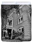 Calhoun Mansion Black And White Duvet Cover