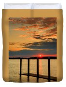 Calibogue Sound Sunset Duvet Cover