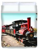 Calico And Odessa Rail Road Duvet Cover