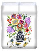 Calico Bouquet Duvet Cover
