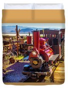 Calico Ghost Town Train Duvet Cover