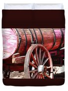 Calico Ghost Town Water Wagon Duvet Cover