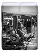 Calico Odessa Train In Black And White Duvet Cover