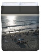 California Carlsbad Beach Almost Sunset Duvet Cover
