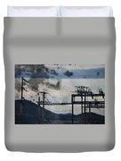 California Cascade Power Lines Duvet Cover