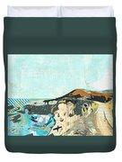 California Coast Collage Duvet Cover