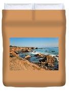 California Coast Rocky Cliffs Duvet Cover