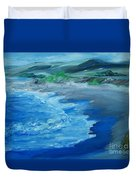 California Coastline Impressionism Duvet Cover