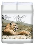 California Cougar Duvet Cover